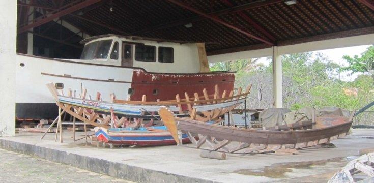 Estaleiro-escola Sítio do Tamancão, em São Luís- MA, que forma profissionais construtores navais (Fonte: Blog).