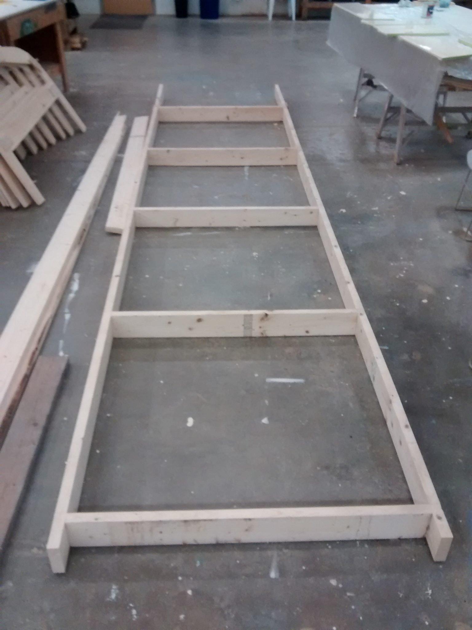 Base para os moldes (picadeiro).