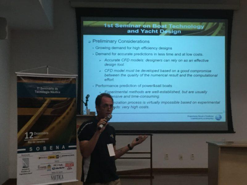 O professor Alexandre Alho contribuiu com sua experiência em CFD (Fonte: BRANA).