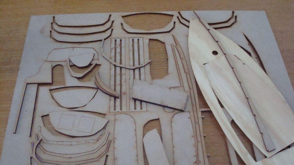 Maquete/Modelo reduzido de barco em escala