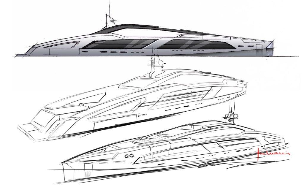 yacht design sketch