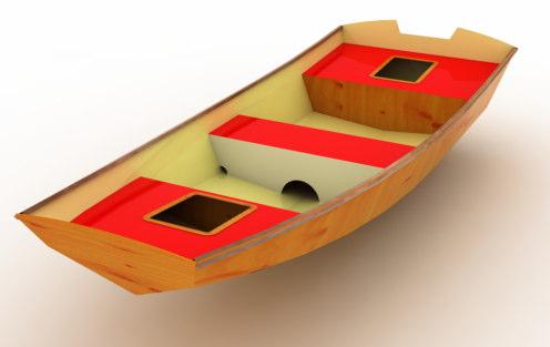 Embarcação Chalana 15' - Projeto