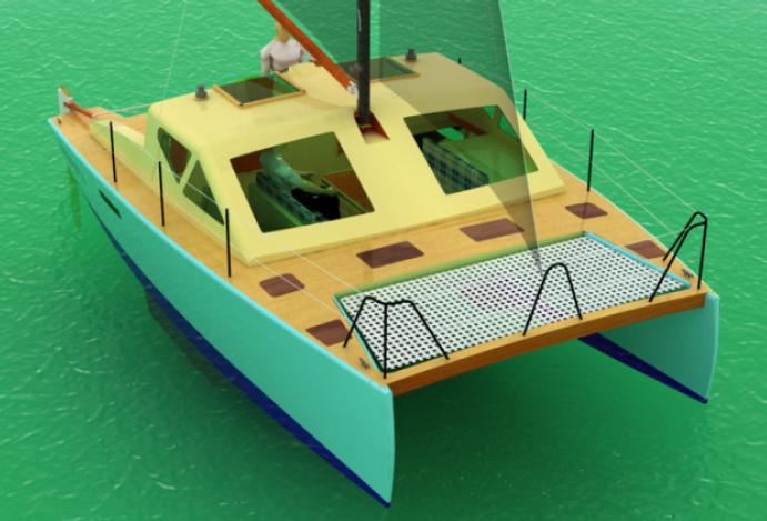 Projeto Catamaran Polinésio 23'